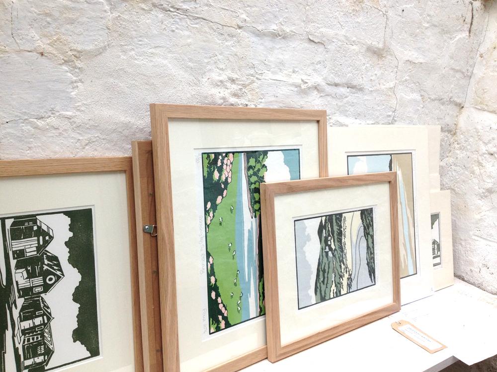Fiona Carver, printmaker, lino prints, Anglesey