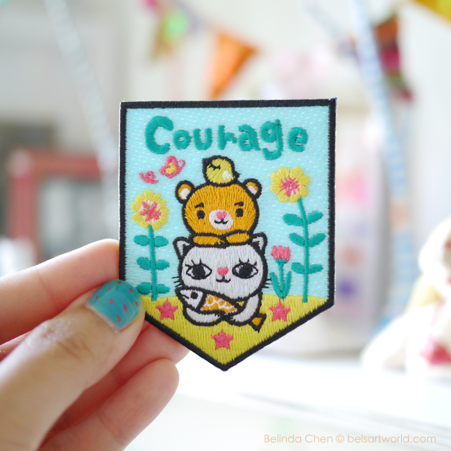 courage patch, Bels Art World, BelsArt, Belinda Chen, Bel Chen, illustrator,
