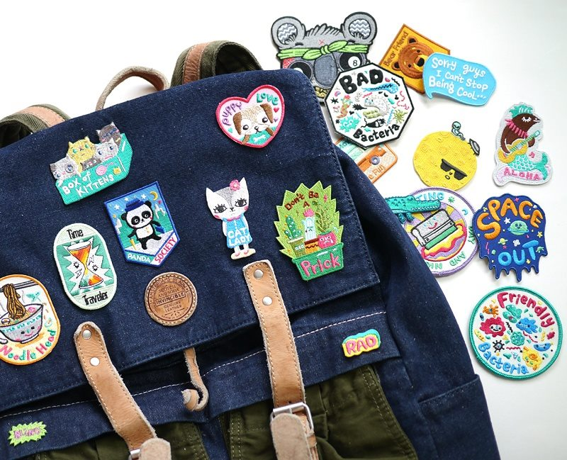 illustrated patches, Bels Art World, BelsArt, Belinda Chen, Bel Chen, illustrator,