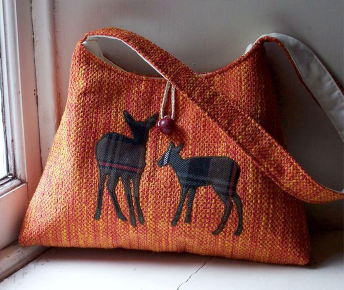 Scottish deer shopping bag