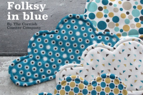 #folksyfriday – Folksy in Blue by The Cornish Coaster Company