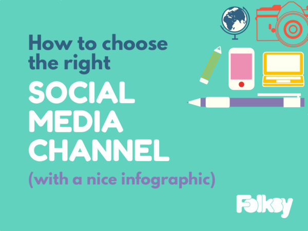 How to choose the right social media channel, infographic, 2016