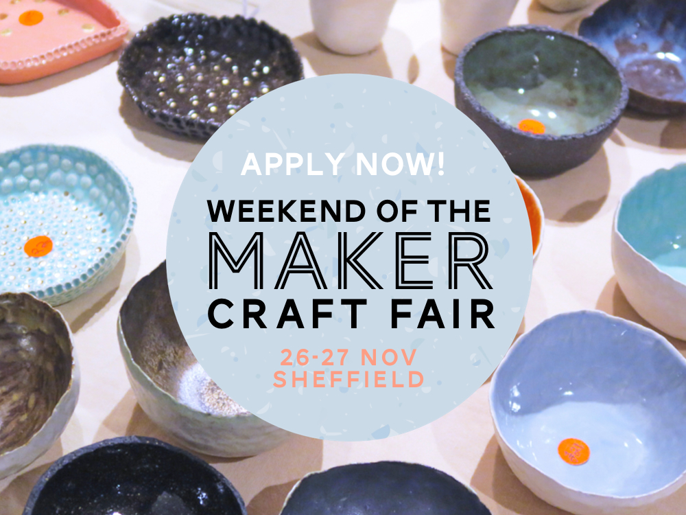 Apply for the weekend of the maker craft fair for Best sellers at craft fairs 2016