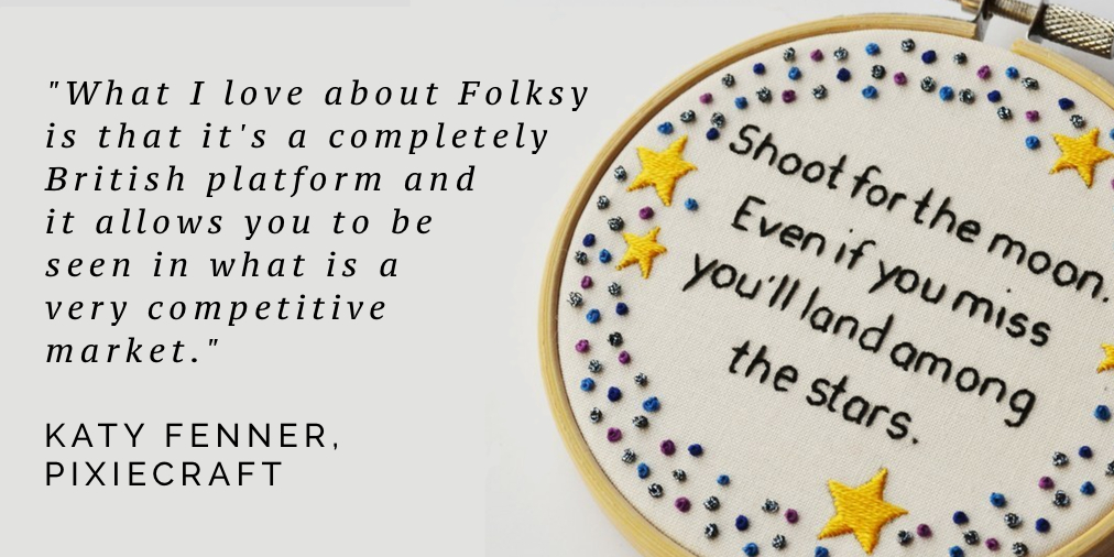 What I love about Folksy, Katy Fenner, Pixicraft