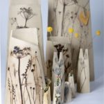 Ceramic Botanist, wildflower vase,