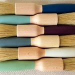 turned pastry brushes, Rose James Home & Gifts, Rose James pastry brushes, painted wooden pastry brushes,