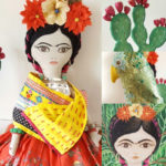 Frida Kahlo Doll, Frida Kahlo art, Frida Kalho doll, Fiona Sant, Planet Sant,