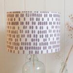 Mimosa lampshade, screen printed lampshade, Hannah madden,