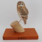 carved owl, wooden birds,