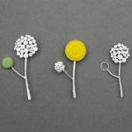 allium brooch, silver allium brooch, allium jewellery, charlotte whitmore,