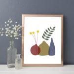 Billy Buttons, crespedia flowers, crespedia, art print, Louise Brainwood,