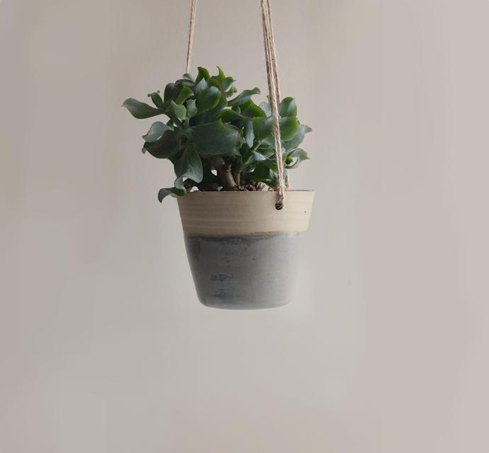 ceramic hanging planter, kara leigh ford