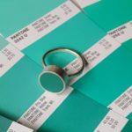 Clare Lloyd Jewellery, pantone jewellery, mint green ring, pantone ring,