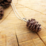 copper pine cone necklace, pine cone jewellery, curious magpie