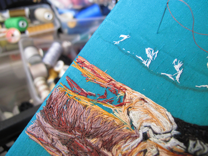 Emily Tull, artist, embroideries, textile art, thread artist, thread painter