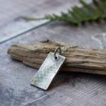 Silver fern necklace, little red hen jewellery,