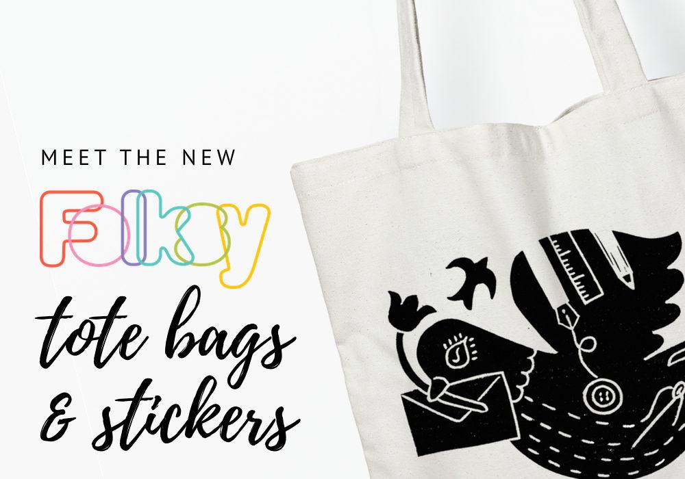 Folksy Tote Bags, Bumper Stickers