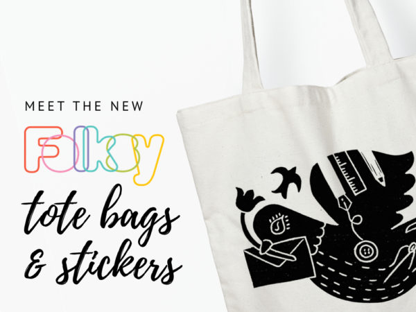 Folksy Tote Bags, Bumper Stickers