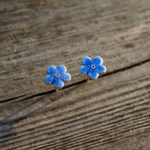forget me not earrings, saffron ana jewellery,