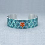 fox and forest bangle, fox cuff, decumi designs,