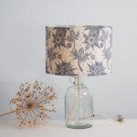 Hannah Madden lamp, block printed lampshade,