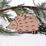 Hedgehog tree decoration,