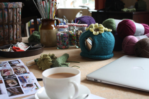 crochet, tea cosy, interview, hook and loop