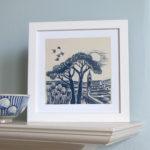 Summer flight print, linen prints, jacqui watkins