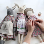 Katy Livings, Rabbit dolls, heirloom textile dolls