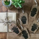Botanical Gift Tags, hand printed gift tags, Rose Agar,