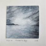 original etching, Lisa Le Quelenec, Seaside Studios, the Needles, Isle of Wight