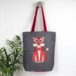 Tiger bag, tiger tote, scandinavian, mid-century,
