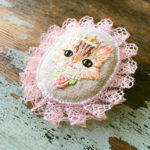 Cat princess brooch, do a little dance,