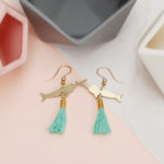 Narwhal Earrings, mybearhands