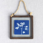 Framed Cyanotype, Seed head art, Way to Blue