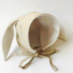 baby bonnet, Baby bonnets by petals & berry, bunny bonnet, babby bonnet with ears, petal and bird,