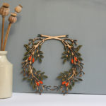 handmade autumn wreath, wooden wreath