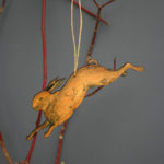 Naomi Greaves, wooden hare hanging decoration,