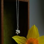 Daffodil Necklace, Silver daffodil Necklace, Abi Watkins, Rock Rose Jewellery