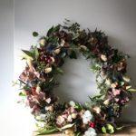 botanical tales, Christmas wreath, dried flower wreath, dried flower christmas wreath