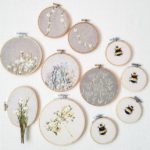 LouStitches Embroidery Hoops, embroidery hoop art, Louise Newton,
