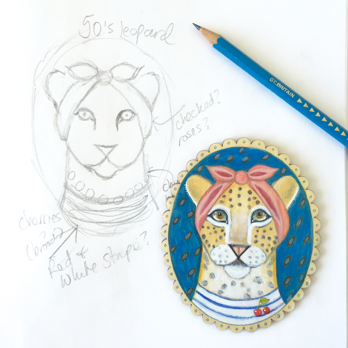 Menagerie Art, interview, work in progress, leopard, cheetah