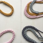 Macrame Necklaces, rope necklace, macrame necklace, pink macrame necklace, Peggy,