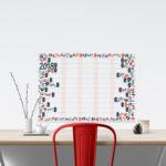 Sam Osborne Illustration, samossie, wall planner, 2018 wall planner, Scandi wall planner,