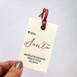 From Santa's workshop, letterpress tags,