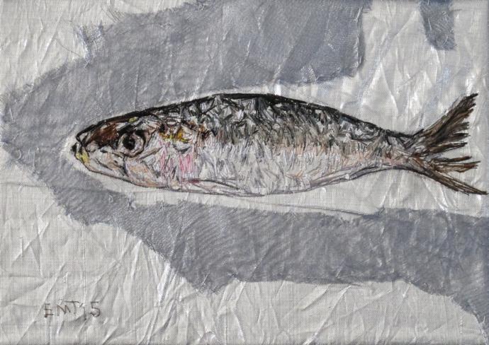 Sardine, art, Emily Tull,