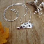 LucyLou Jewellery, sleeping hare necklace,