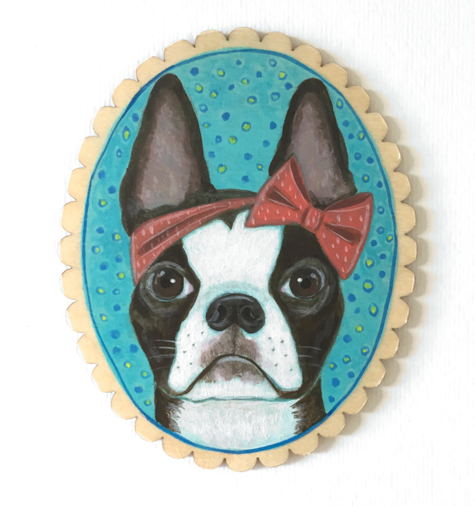 Stella the Boston Terrier, Menagerie, animal portraits