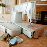 Vintage sewing machine, Seaforth Designs, Simplicity giveaway, Craftsy offer,