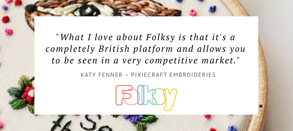 why sell on folksy, where to sell embroidery online,